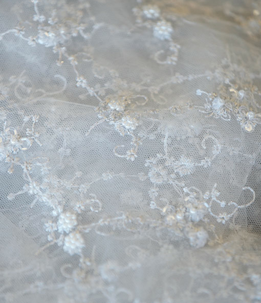 Chantilly Lace White Silver The Finishing Touch