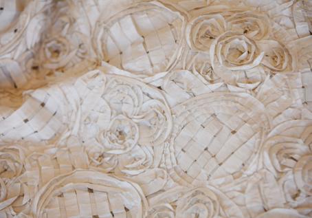 Flower Basket Antique Ivory