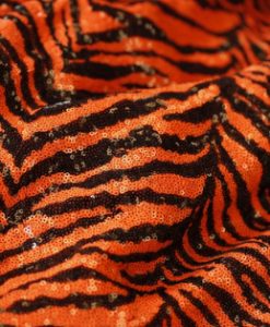 Zebra Sequins Orange