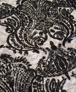 Sequin Damask Black