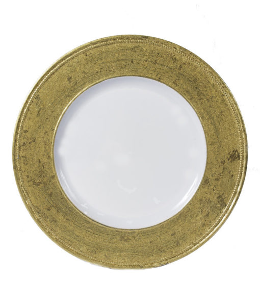 Antique Gold Acrylic Charger Plate