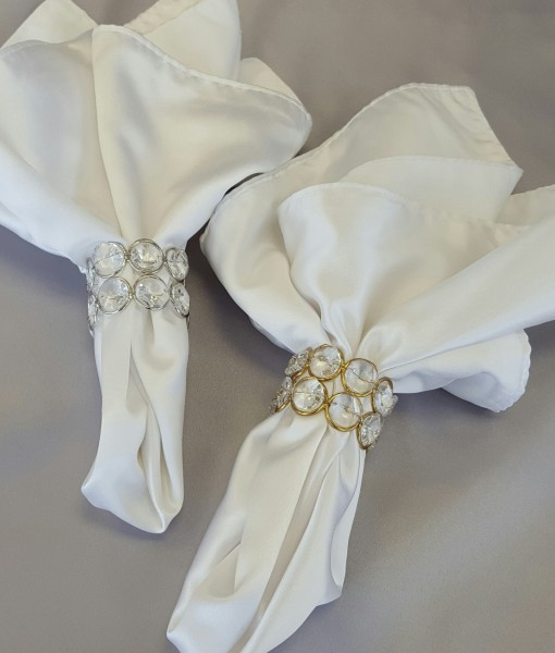 Crystal Gold or Silver Napkins Ring
