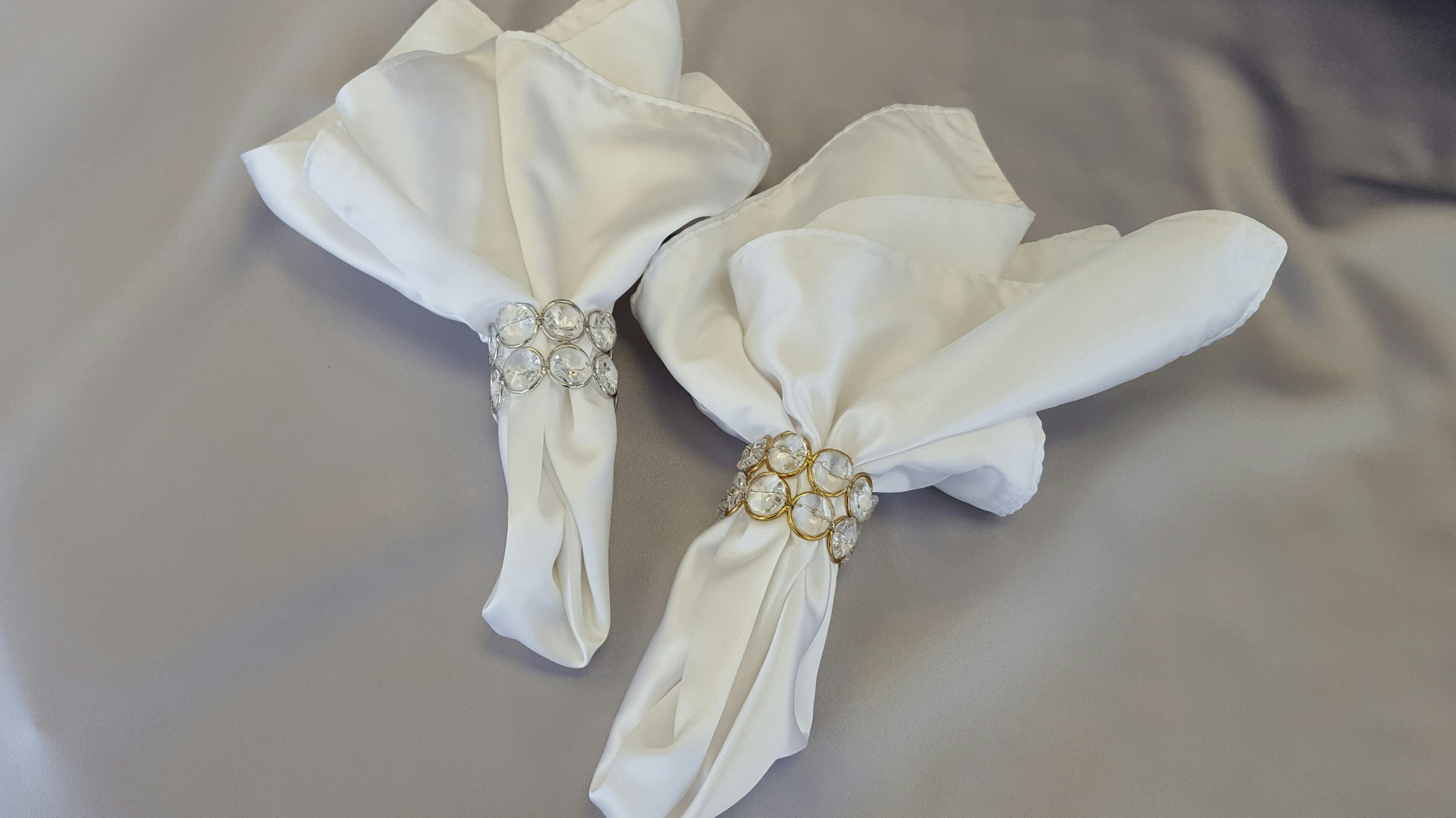Crystal Gold Or Silver Napkin Rings The Finishing Touch