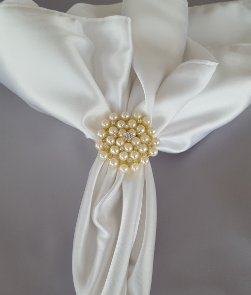 Gold with Pearls Napkin Ring