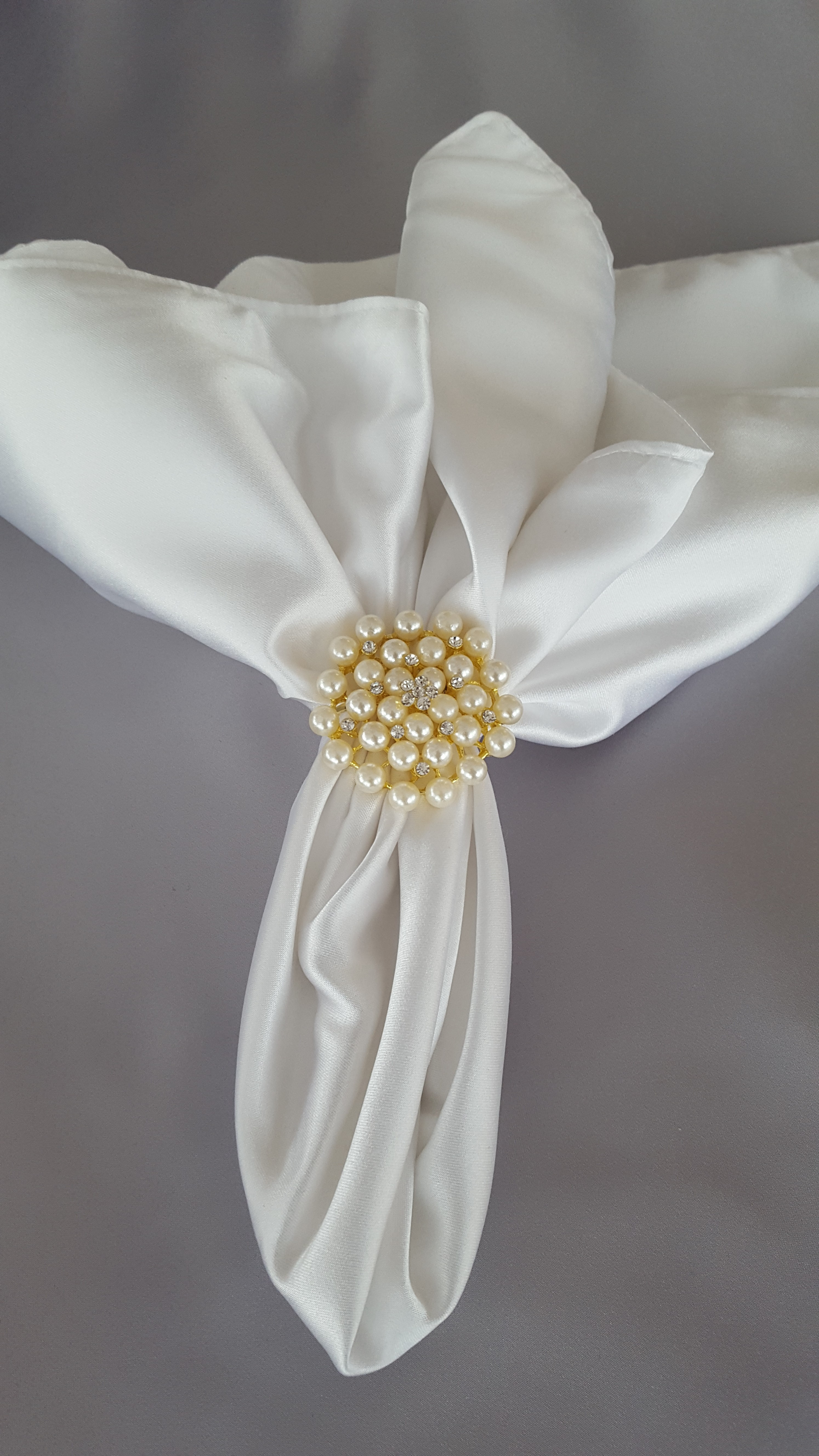 Gold With Pearls Napkin Ring The Finishing Touch
