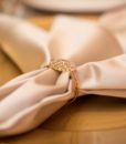 Round Gold Diamond Napkin Ring