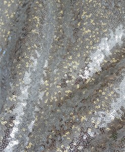 Glitzy Glam Metallic Silver