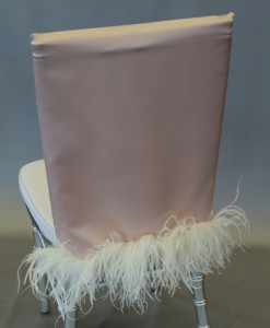 Blush Lamour Long Chair Cap with Plume