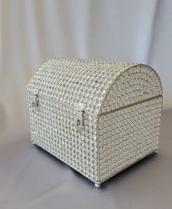 Crystal Silver Money Box
