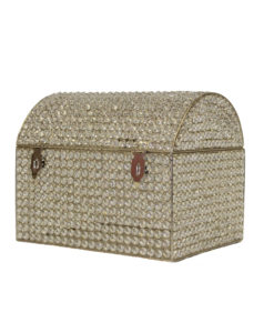 Crystal Silver Money Box