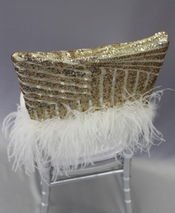Gatsby Gold Chair Cap with Plume