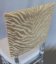 Natural Zebra Chair Cap