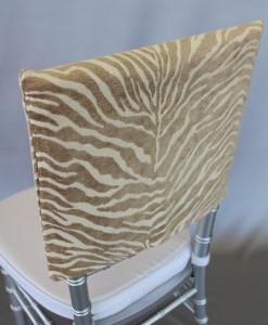 Natural Zebra Chair Cap