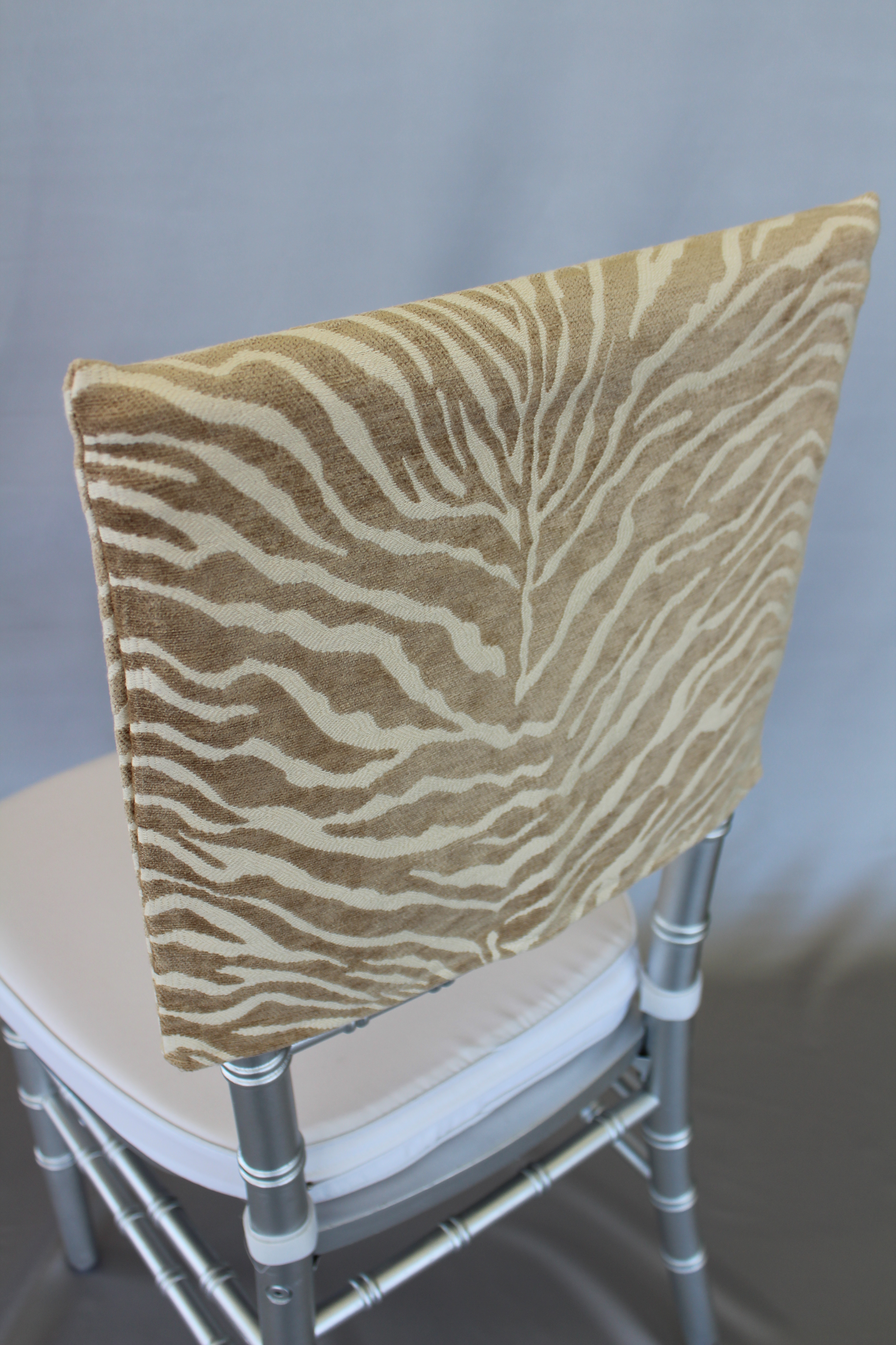 Natural Zebra Chair Cap The Finishing Touch