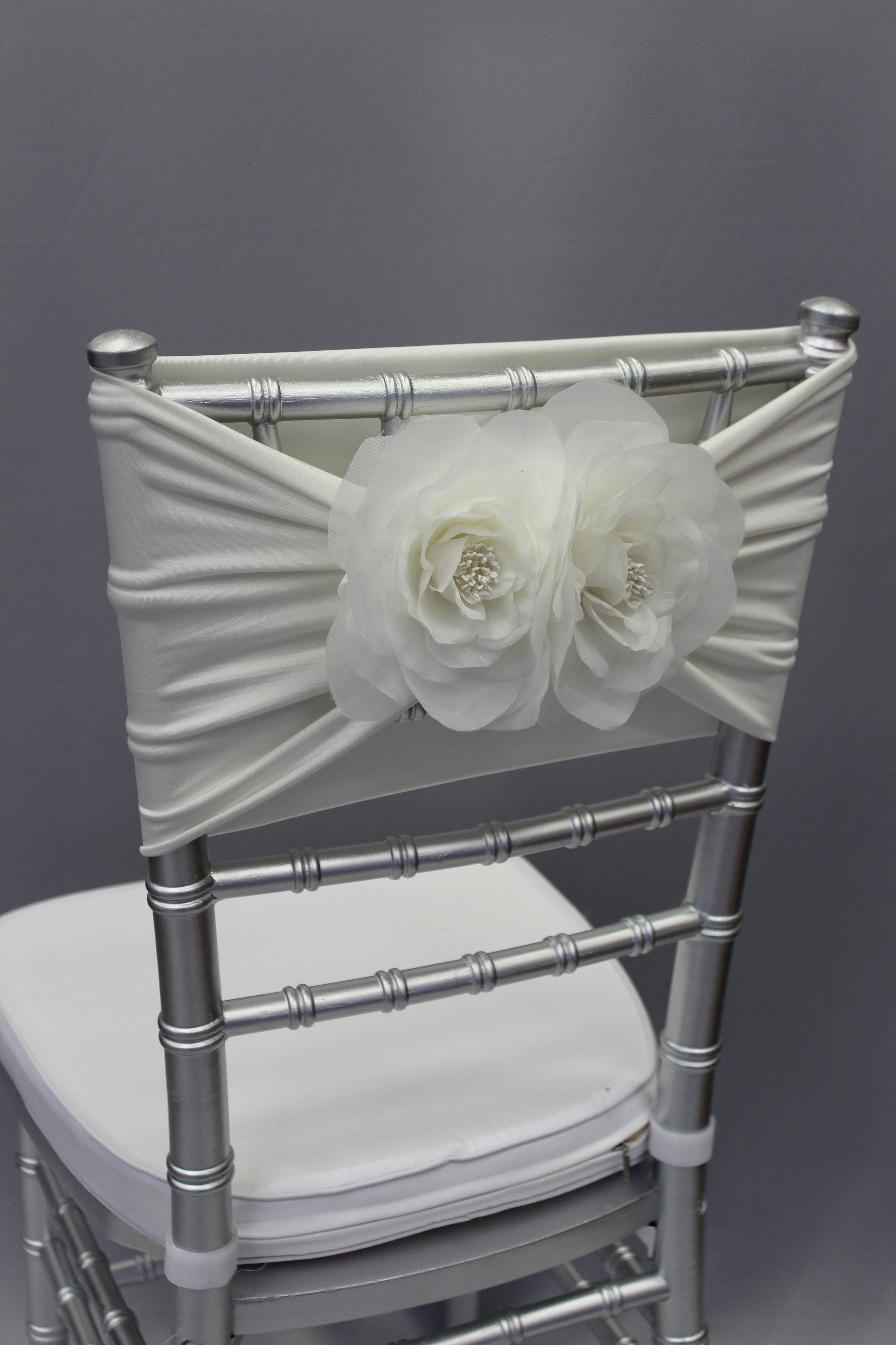 Ivory Band With Silk Flowers The Finishing Touch
