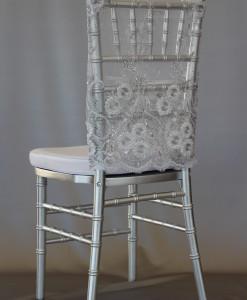 Sweet Priscilla Silver Long Chair Cap
