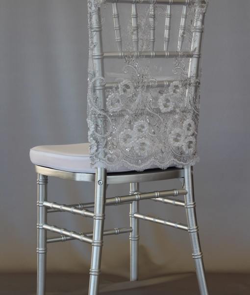 Sweet Priscilla Silver Long Chair Cap
