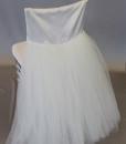 White Tulle Tuxedo Back