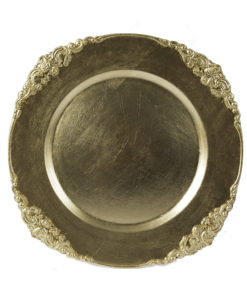Gold Regal Acrylic Charger Plate