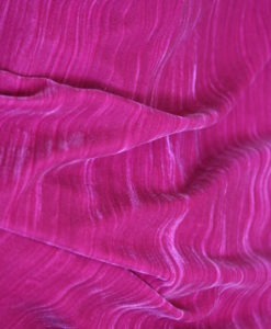 Crushed Velvet Hot Pink
