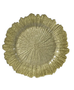 a44234d9053f Glass Gold Beaded Edge Charger Plate · Gold Coral Reef Charger