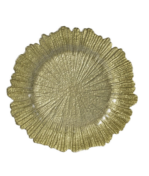 Gold Coral Reef Charger