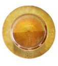 Gold Opal Glass Charger Plate