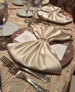 Glass Rose Gold Ombre Charger Plate