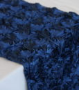 Dozen Roses Navy Table Runner