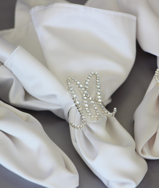 Bold or Script Initial Napkin Rings
