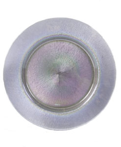 Silver Opal Glass Charger Plate