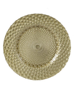 Gold Plume Glass Charger Plate