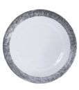 Silver Rim Glass Charger Plate