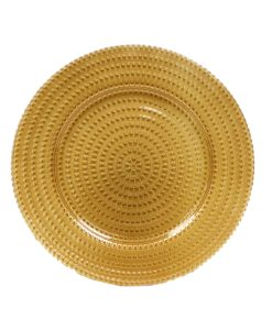 Glass Tripoli Gold Charger Plate