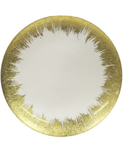 Gold Spray Charger Plate