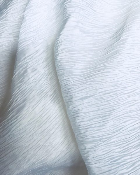 Crushed Taffeta White
