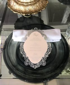 Glass Black/White Deco Charger Plate