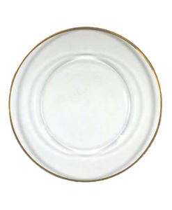 Glass Gold Thin Rim Charger Plate