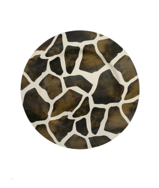 Giraffe Leather Charger Plate