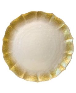 Glass Gold Contessa Charger Plate