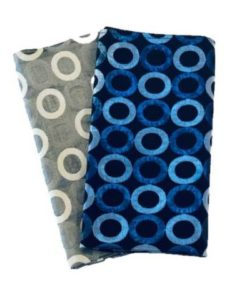 Retro Rings Blue & Silver Napkins