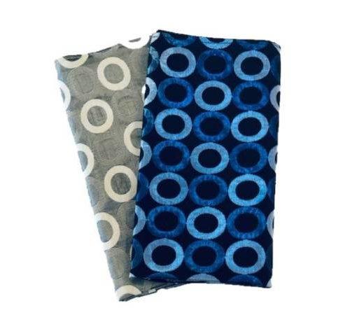 Retro Rings Blue & Silver Napkins